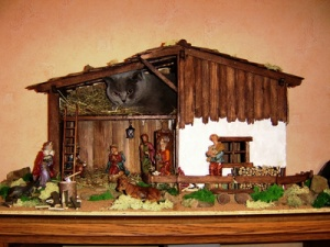 Weihnachten,Krippe,Maria,Joseph,Christkind,Christmas,Holy night